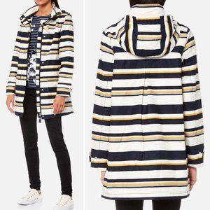 JOULES Haven Waterproof Hooded Striped Rain Jacket
